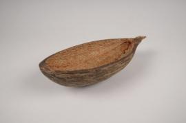 a024wg Natural baobab shell 25x11.5cm H6cm