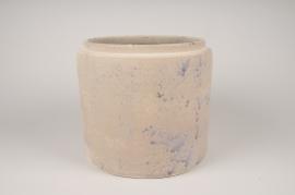 A024XD Cache-pot en céramique rose D27cm H24cm
