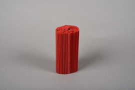A024Z5 Set of 100 red pvc pleated pot cover H12cm
