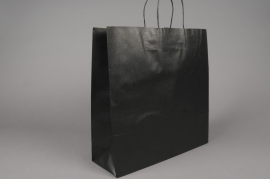 A025AS Paquet de 25 sacs kraft noir 36x12cm H41cm