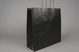 A025AS Paquet de 25 sacs kraft noir 36x12cm H41cm