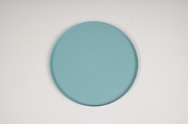 A025CC Blue metal tray D20cm