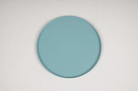 A025CC Plateau en métal bleu D20cm
