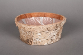 A025DZ Bowl wood bark D25 H9cm