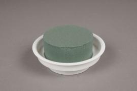 A025K6 Set of 12 cups with floral foam D12cm H5cm
