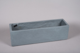 A025NM Grey fiber planter 60x17.5cm H17.5cm