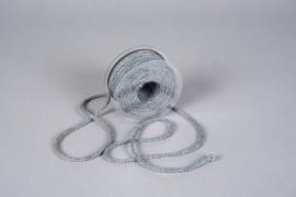 A025QL Ruban corde gris 6mm x 20m