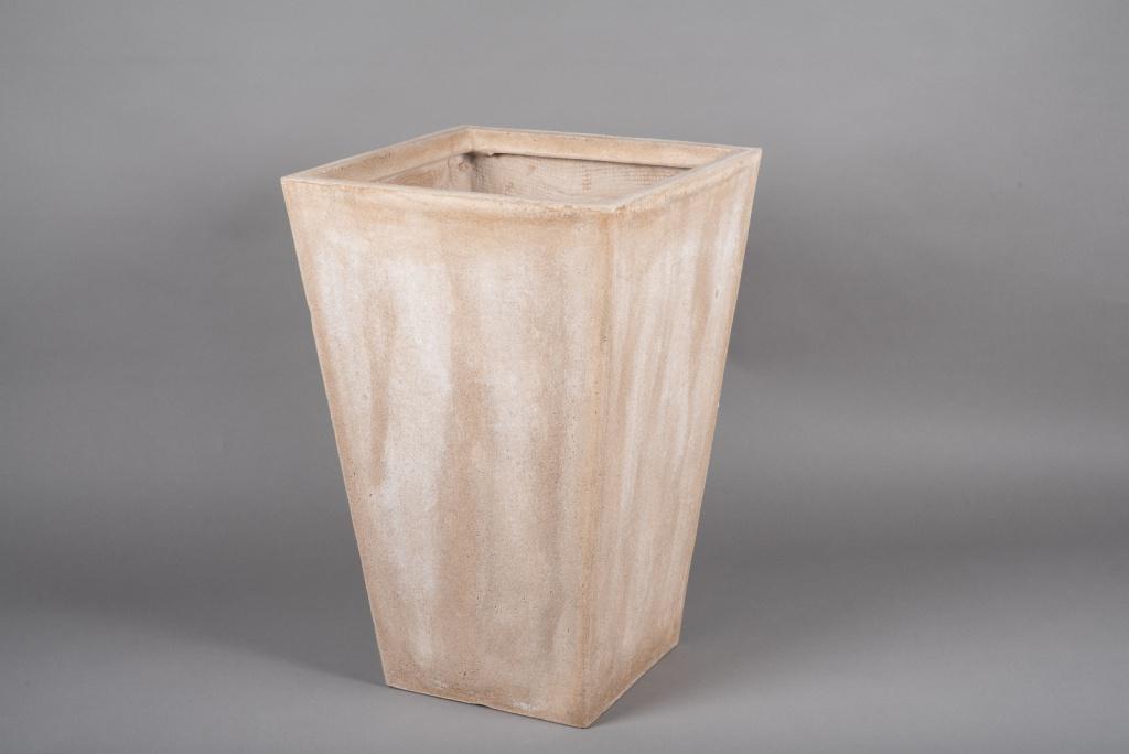 A025VV Pot fibre sable 40x40cm H60cm