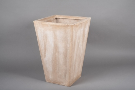 A025VV Pot fibre sable 40x40cm H60cm