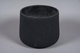 A025W7 Pot en fibre noir D36cm H28cm