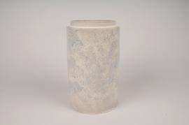 A025XD Cream ceramic vase D15cm H25cm