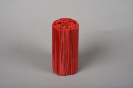 A025Z5 Set of 100 red pvc pleated pot cover H14.5cm