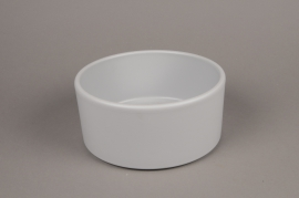 A026A8 Grey ceramic planter pot D20cm H10cm