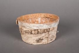 A026DZ Bowl wood bark D20 H9cm