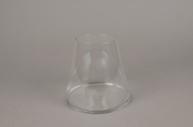 A026H9 Tapered glass vase D16cm H15cm