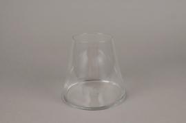A026H9 Vase en verre resserré D16cm H15cm