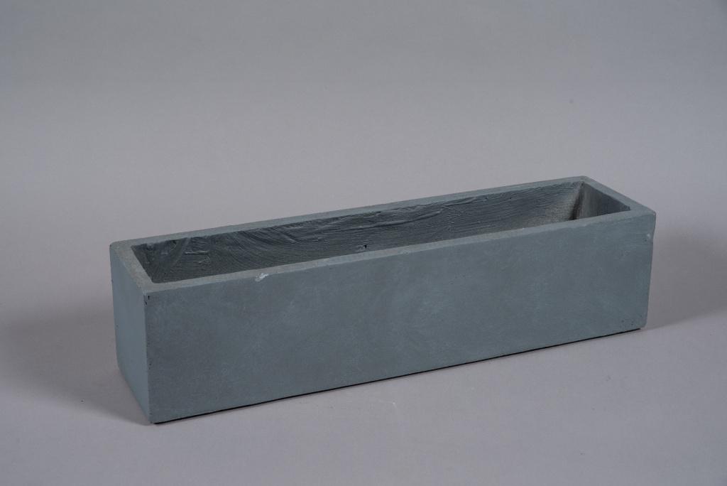 A026NM Jardinière fibre gris 70x18cm H18cm