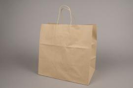 A026O6 Bag of 50 bags kraft natural 32x20cm H32cm