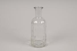 A026R4 Vase en verre bouteille D7.5cm H19cm