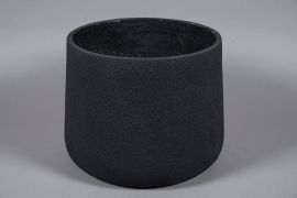 A026W7 Black resin planter D45cm H35cm
