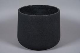 A026W7 Pot en fibre noir D45cm H35cm