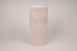 A026XD Cream ceramic vase D17cm H35.5cm