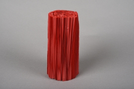 A026Z5 Set of 100 red pvc pleated pot cover H16.5cm