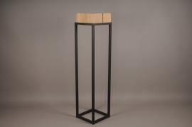 A026ZV Sellette en bois et métal 25cm x 25cm H105cm