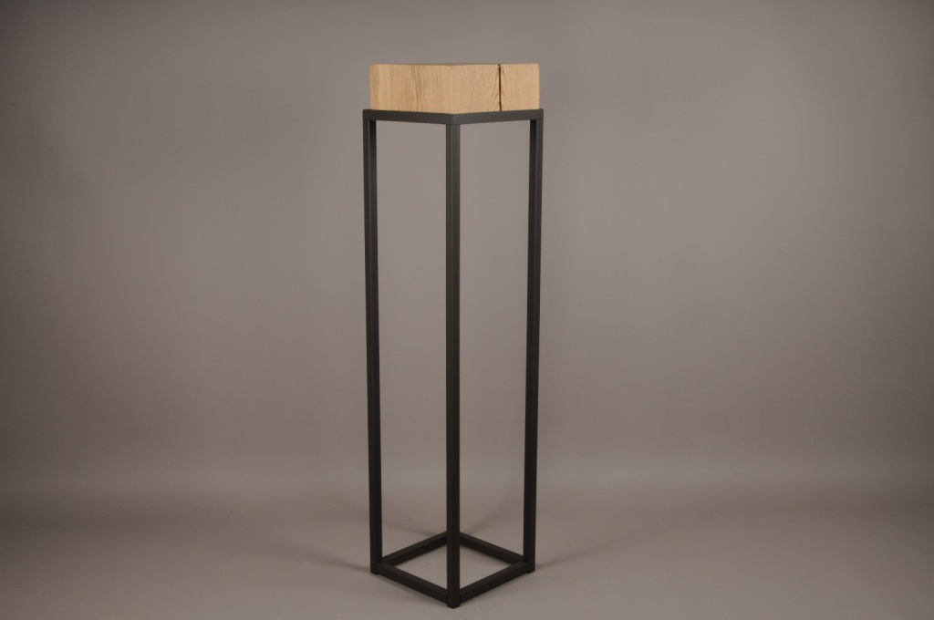 A026ZV Wooden and metal stand 25cm x 25cm H105cm