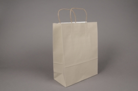 A027AS Bag of 25 grey kraft bags 26x12cm H36cm