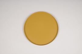 A027CC Plateau en métal moutarde D20cm