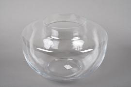 A027IH Vase verre déco D37cm H25cm