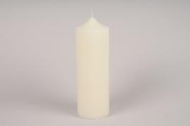 A027KI Bougie ivoire D10cm H30cm