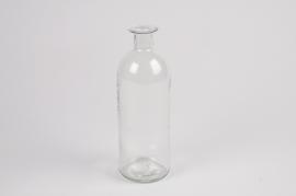 A027NH Vase en verre bouteille D7cm H20cm