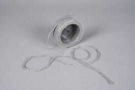 A027QL Ruban corde gris 3mm x 25m