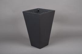 A027VV Grey fiber planter 32x32cm H53cm