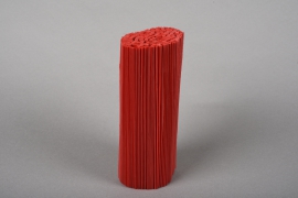 A027Z5 Set of 100 red pvc pleated pot cover H18cm
