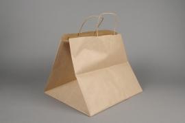 A028AS Paquet de 25 sacs kraft naturel 33cm x 37cm H31cm