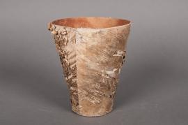 A028DZ Cache-pot en écorce bois D28 H29cm