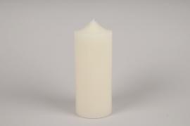 A028KI Bougie ivoire D10cm H25cm