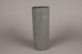 A028N8 Vase en terre cuite noir D12cm H30cm