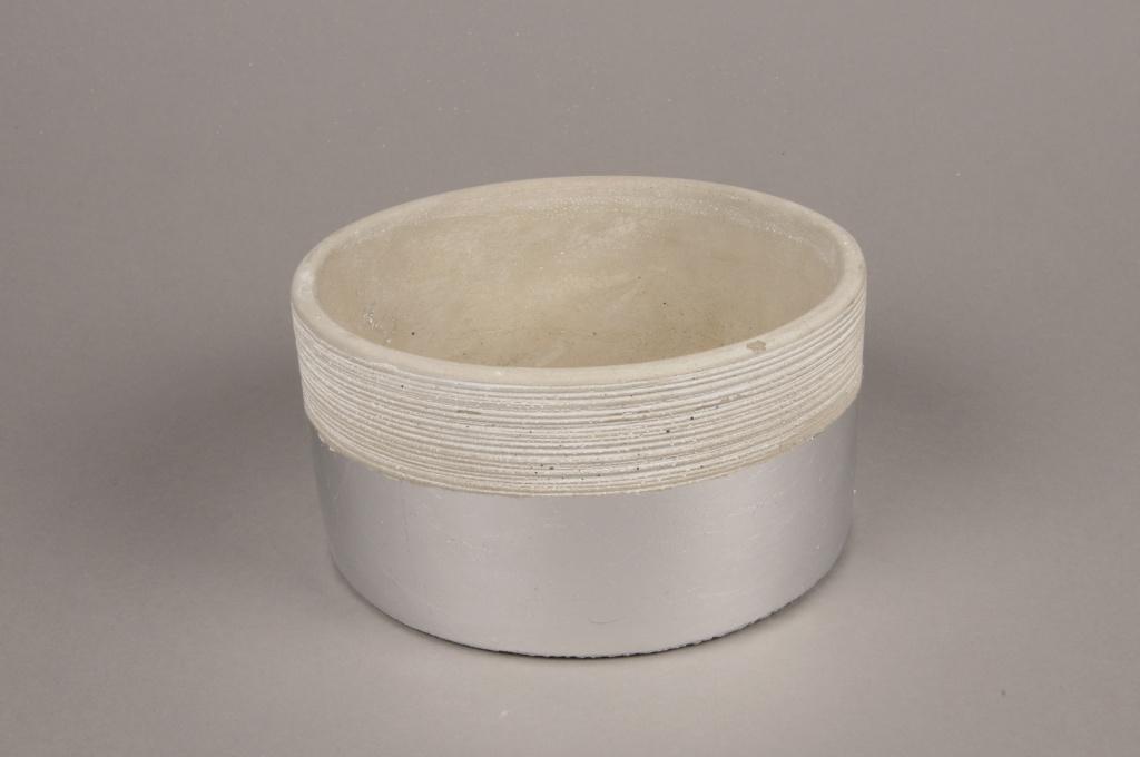 A028U0 Grey terracotta cup D15.5cm H9m