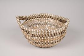 A028UV Weaved basket planter D26cm H11cm