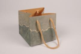 A028VB Paquet de 5 sacs vert 12x12cm