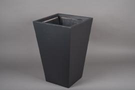 A028VV Grey fiber planter 40x40cm H60cm