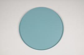 A029CC Plateau en métal bleu D29.5cm