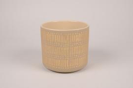 A029I4 Grey ceramic planter D16cm H14.5cm