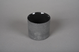 A029N8 Grey terracotta planter D9cm H8.5cm
