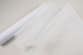 A029RB White tulle roll 48cm x 10m