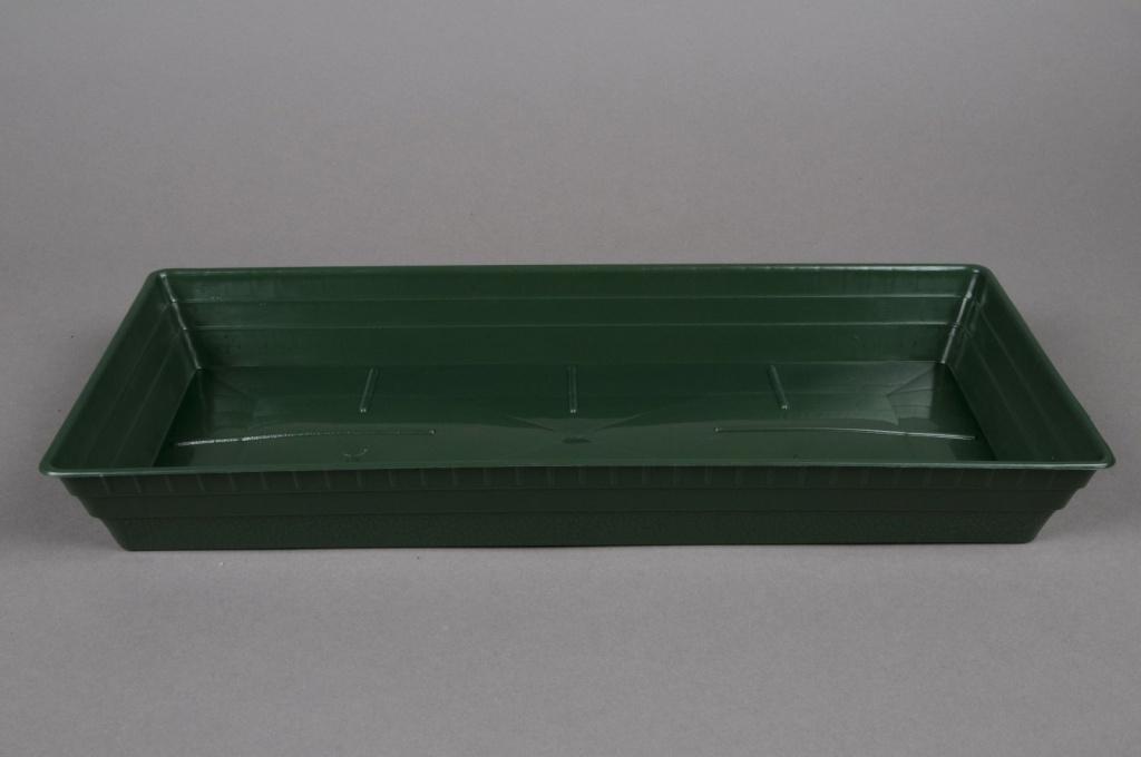 A029T7 Coupe en plastique verte 40x18 H5cm